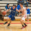 James Neiss/staff photographer <br /> Sanborn, NY - Newfane #1 Sam Capen drives the ball during basketball game action against Niagara-Wheatfield.