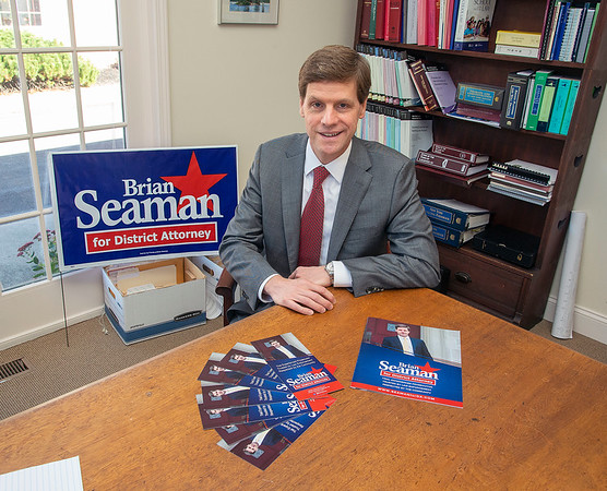 201014 Brian Seaman 2<br /> James Neiss/staff photographer <br /> Lockport, NY - Niagara County District Attorney candidate Brian Seaman.