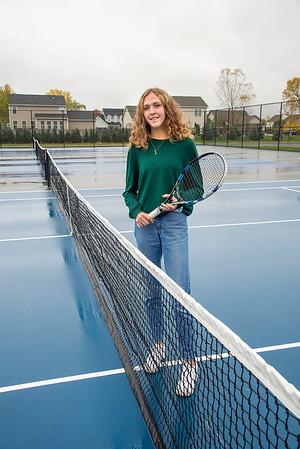 201022 GI Tennis Brown James Neiss/staff photographer  Lockport, NY - Grand Island girls tennis player Kiersten Brown.