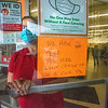 200804 Coin Shortage 1<br /> James Neiss/staff photographer <br /> Lockport, NY - Family Dollar Assistant Manager Loni Rivera has to deal with the coin shortage the best she can, by asking shoppers to have exact change or use a bank card.