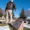 "201229 Kirk Jones Enterprise 1<br /> James Neiss/staff photographer <br /> Niagara Falls - Tim Baxter, director of operations at the Oakwood Cemetery Association, stands next to the gravesite donated to Kirk Jones by Oakwood. ""We had heard that Kirk Jones had not been claimed at the morgue, so the Board decided to donate a grave, as we had done in the past,"" said Baxter. (Annie Edson Taylor and Carlisle Graham's graves were both donated by the cemetery.) <br /> <br /> In 2003, Kirk Jones became the first person without protection to survive going over Niagara Falls. In June of 2017, the daredevils body was discovered a couple months after being suspected of going over Niagara Falls in an inflatable ball."