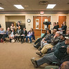James Neiss/staff photographer <br /> Niagara Falls, NY - National media were in attendance as Jim Schultz, founder and executive director of the Democracy Center, explains how Lockport High Schools facial recognition software works during a public roundtable discussion on the issue at the Lockport Library hosted by the NYCLU, ACLU of New York.