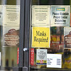 200528 Face Masks 3<br /> James Neiss/staff photographer <br /> Lockport, NY - Like many businesses, management at this Kwik Fill store in Lockport created a policy that customers must wear face masks to enter the store. On Thursday, Gov. Coumo signed an executive order backing up private businesses who wish to make wearing masks to do business on their property legally mandatory.
