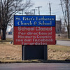 200316  Virus - Schools 5<br /> James Neiss/staff photographer <br /> Sanborn, NY - A sign at St. Peter's Lutheran Church & School notifies parishioners that the school is closed along with all the other schools in Niagara County.