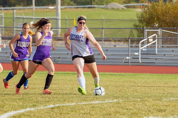 200925 Enterprise 2<br /> James Neiss/staff photographer <br /> Middleport, NY - The Royalton-Hartland girls soccer team hit the practice field along with many other sports and schools in NYS this week.