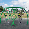 200727 Enterprise 1<br /> James Neiss/staff photographer <br /> Niagara Falls, NY - Young Maddox Bovanizer, 4, goes for it on the jungle gym at the Hyde Park Playground.