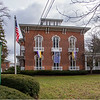 James Neiss/staff photographer <br /> Lockport, NY - The flags are flying outside the Kenan Center in preparation for and exhibition titled The Art of Suffrage: Struggle, Sacrifice and Success that is in the installation process, with the show running February 9 - March 29. The exhibit will celebrate the US Suffrage Movement's 100 year anniversary of a woman's right to vote.