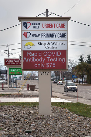 201113 COVID Stock 3<br /> James Neiss/staff photographer <br /> Town of Niagara, NY - COVID stock photo… Niagara Falls Urgent Care.