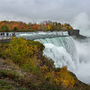 201021 Falls Color<br /> James Neiss/staff photographer <br /> Niagara Falls, NY - Autumn color surrounds tourists and Niagara Falls.