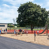 "200903 Playground 2<br /> James Neiss/staff photographer <br /> Gasport, NY - Children enjoy playing at the new playground behind the Gasport Elementary School during a soft opening on Thursday. School Superintendent Hank Stopinski said ""the first rule of the playground is to have fun."""