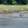 200720 Enterprise 1<br /> James Neiss/staff photographer <br /> Lockport, NY - Kayakers enjoy the sunny day on the Erie Canal in Lockport.