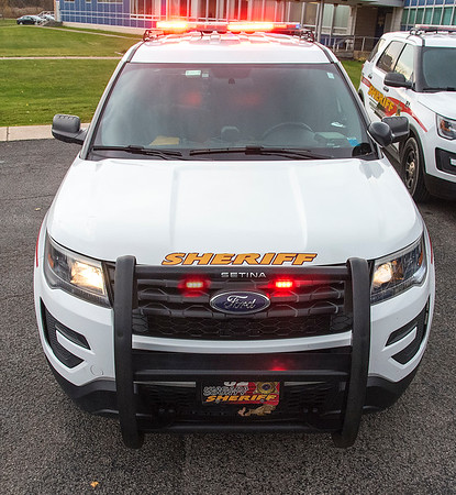 201113 Sheriff Stock 2<br /> James Neiss/staff photographer <br /> Lockport, NY - Niagara County Sheriff Department stock art, logo, icon, crime graphic, police car.