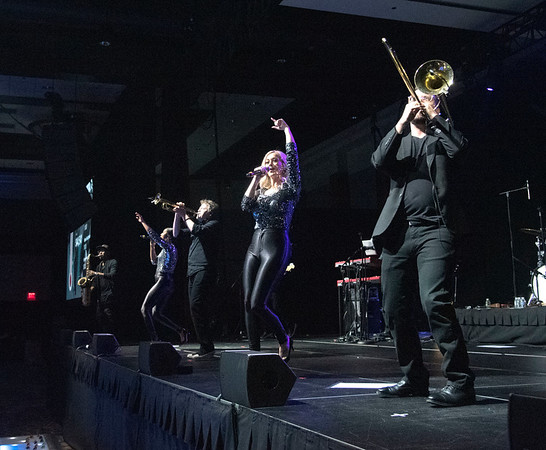 James Neiss/staff photographer <br /> Niagara Falls, NY - The dance floor was hopping to the sounds of The Downtown Band during the Niagara Falls Memorial Medical 2020 Premier at the Seneca Niagara Resort.