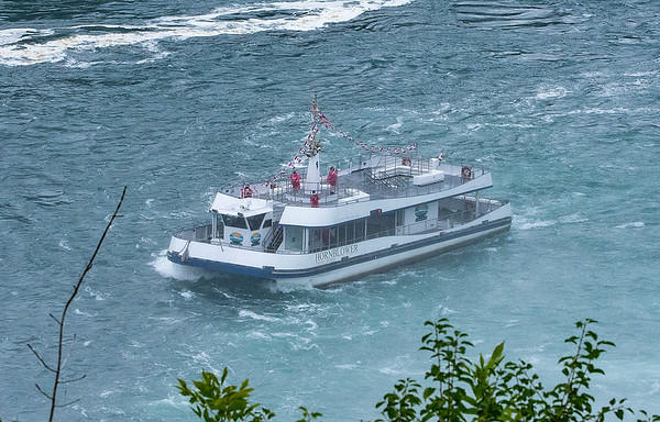 200723 Maid Capacity 5<br /> James Neiss/staff photographer <br /> Niagara Falls, NY - Hornblower tour boats are almost empty taking only 4 passengers on this boat to see the falls on Thursday.