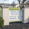 201120 Newfane HS 1<br /> James Neiss/staff photographer <br /> Newfane, NY - Newfane High School sign.