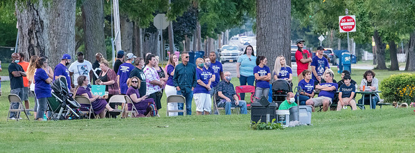 200831 Overdose Awareness 3<br /> James Neiss/staff photographer <br /> Niagara Falls, NY - Attendees listen to speakers at the 4th annual Lockport International Overdose Awareness Day Rally at Veterans Park.