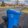 201117 Enterprise 3<br /> James Neiss/staff photographer <br /> Cambria, NY - Cambria residents on Saunders Settlement Road received their new garbage can as the town opts for single can pickup starting in 2021.