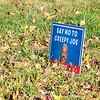 201104 Biden Centric 2<br /> James Neiss/staff photographer <br /> Lewiston, NY - Another Escarpment Drive resident … not so much.