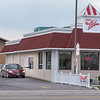 200408 Ice Cream 3<br /> James Neiss/staff photographer <br /> Niagara Falls, NY - JoJo's Ice Cream in Lockport is a popular restaurant with their drive-up window.