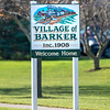 201120 Barker Village Sign<br /> James Neiss/staff photographer <br /> Barker, NY - Barker Village Sign.