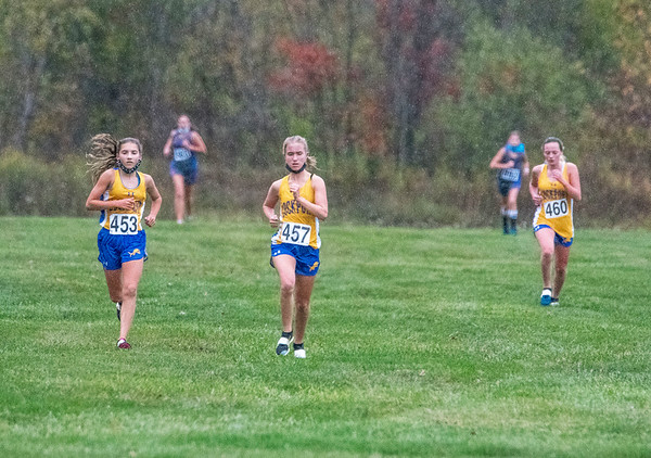 201027 Cross Country 2 <br /> James Neiss/staff photographer <br /> Lewiston, NY - Lockport Cross Country runners lead the race against Grand Island.