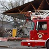 A building at 2915 Lockport Road suffered heavy damage during Sunday afternoon's high winds.