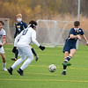 201029 NF VS NT 2<br /> James Neiss/staff photographer <br /> Niagara Falls, NY - Niagara Falls #17 Peter Campbell moves the ball during soccer game action in Niagara Falls.