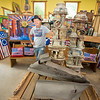 200909 9_11 Artist 2<br /> James Neiss/staff photographer <br /> Cambria, NY -  Local artist Richard 'Sean' Manning, has been creating 9/11 commemorative art for the past decade.  Pieces from this body of work will be on display at Freedom Run Winery located at 5138 Lower Mountain Road, Lockport, from September 11th and can be viewed from a social distance.  The winery is open 12-6 pm daily, and to 8 pm on Friday.  All are welcome to drop by to see this very meaningful exhibit.  Please wear a mask.  No purchase necessary, however reservations are required for parties of 8 or more by calling the tasting room at (716) 433-4136.  For those interested in relaxing over a glass or bottle of wine, or craft beer overlooking the vineyards, Ava's Table at the Vineyard will be serving dinner on Friday from 3-8 pm, and Brunch with Bloody Mary's and Mimosas on Saturday and Sunday from 12-4 pm.