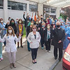200506 HOME NFMMC Appreciation 14<br /> James Neiss/staff photographer <br /> Niagara Falls, NY - Nursing staff are joined by Mayor Robert Restino for a group photo. First Responders, city officials and more gathered outside Niagara Falls Memorial Medical Center to show appreciation to the hard working nursing staff there as part of National Nurses Day.