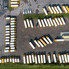 200825 School Busses 3<br /> James Neiss/staff photographer <br /> Lockport, NY - Ridge Road Express school busses are all lined up and ready to go for the start of the new school year. When and what school districts will open are still uncertain during the Covid -19 pandemic.