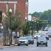 200910 Street Lights 1 <br /> James Neiss/staff photographer <br /> Lockport, NY - Lockport streetlights, like these on Main Street, may soon be swapped out for LED lights.