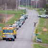 200416 Birthday Parade 1<br /> James Neiss/staff photographer <br /> Lockport, NY - The signal to go was given to cars lined up down the street from former Wrestling Coach Dick Lang for a surprise birthday parade on his 79th Birthday.