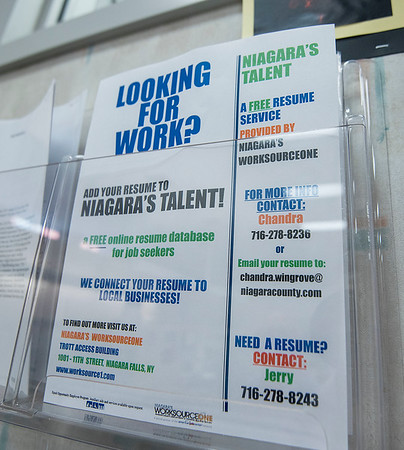 200813 Job Search 3<br /> James Neiss/staff photographer <br /> Niagara Falls, NY - Worksource One Niagara branch Director Don Jablonski said even with the current COVID they have 90-250 job postings searchable on their computers. Plus there are various programs that will pay for tuition and education for those that qualify. Jablonski said Worksource One also has partnerships with businesses for on the job training opportunities.