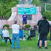 200831 Overdose Awareness 1<br /> James Neiss/staff photographer <br /> Niagara Falls, NY - Tom Byrne, organizer of the 4th annual Lockport International Overdose Awareness Day Rally says a few words to attendees at Veterans Park.