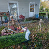 201028 LKPT Halloween 2<br /> James Neiss/staff photographer <br /> Wilson, NY - Something just wrong is going on in the front yard of this Washington Street home this Halloween.