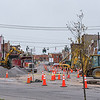 200508 Enterprise 2 <br /> James Neiss/staff photographer <br /> North Tonawanda, NY -  Good thing most of the businesses are closed along Webster Street as far as the traffic is concerned, as a massive construction project makes roadways a one-way driving maze.