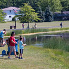 2006018 Enterprise 1<br /> James Neiss/staff photographer <br /> Town of Niagara, NY - Cousins John Hottot and Evan Joyce, 8, enjoy fishing at the Town Of Niagara Veterans Memorial Community Park pond