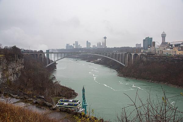 201130 Enterprise 1<br /> James Neiss/staff photographer <br /> Niagara Falls, NY - Monday presented to be a gloomy day downtown Niagara Falls.