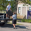 200810 NU 1<br /> James Neiss/staff photographer <br /> Lewiston, NY - Owen Layman of Buffalo gets help from his brother Franklin, 14, moving into his Seton Hall dorm room at Niagara University. Layman, said he had to get an appointment to move his stuff in, but won't be moving in himself until college starts, reportedly on August 24.