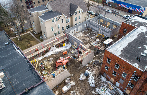 "James Neiss/staff photographer <br /> Niagara Falls, NY - Work continues on the new $2.6M Daybreak program and facility addition at Heart Love & Soul.<br /> <br /> Old Release from last year fyi…….<br /> FOR IMMEDIATE RELEASE<br /> February 6, 2019<br /> Contact: Mark Baetzhold<br /> Phone: (716) 282-5687<br /> Email: m.baetzhold@heartloveandsoul.org<br /> Heart, Love & Soul Announcing Capital Campaign to Support New Program Expansion<br /> More than $2.6M committed to Daybreak one-stop center opening Fall 2019<br /> NIAGARA FALLS, N.Y. – A press conference to announce the launch of a capital campaign to support Heart, Love & Soul (HLS) and its planned Daybreak program will take place on Friday, February 15 at 10:30 a.m. at 939 Ontario Ave., Niagara Falls, NY.<br /> HLS plans to begin renovating the site of the Daybreak program at 924 Niagara Avenue directly behind Heart & Soul's current building in May 2019. The new facility is expected to open in Fall 2019.<br /> Daybreak will build upon current HLS services – including a food pantry, daily meal service, case management, and care coordination – by providing additional basic services and dedicated space for partner agencies to deliver client services directly onsite.<br /> ""We are excited to move forward on this needed initiative that is the result of years of planning by many service agencies in the Niagara Falls community,"" said Sr. Beth Brosmer, Executive Director of HLS. ""By bringing a variety of services together in one accessible location, we can improve the effectiveness of our efforts and make a greater collective impact on our community and individuals in need.""<br /> The new center will offer shower and laundry facilities, a multi-purpose community room, computer lab, additional space for case management and care coordination, a reflection room, and offices for partner agencies to deliver a variety of services on a rotating basis. Clients will be able to access services for housing, health and wellness, behavioral health, employment and training, education, financial literacy, legal support, and more.<br /> The press conference will launch the public phase of a $3.5M capital campaign to fund construction, startup and operating costs, and an investment fund to ensure long-term sustainability. HLS has raised more than $2.6M to date. Rev. Joseph L. Levesque, C.M., President Emeritus of Niagara University and Honorary Chair of the capital campaign; co-chairs, Dr. Lyn Dyster and Kelly Besaw; Robyn Krueger, Executive Director of Community Missions; Anthony Restaino, Commissioner of Niagara County Department of Social Services; and Sr. Beth Brosmer, Executive Director of Heart, Love & Soul will speak at the event. Mayor Paul Dyster, Assemblyman Angelo Morinello, Senator Robert Ortt, and staff from Congressman Brian Higgins are expected to attend.<br /> For additional information, please call (716) 282-5687 or email m.baetzhold@heartloveandsoul.org."