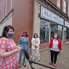 2006011 Hochul Visit 4<br /> James Neiss/staff photographer <br /> Lockport, NY - Lockport with Mayor Michelle Roman, left, says a few works about business in Lockport during a tour with Lieutenant Governor Kathy Hochul of businesses in downtown Lockport. Joining them are county legislators Anita Mullane and Rebecca Wydysh.