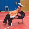 James Neiss/staff photographer <br /> North Tonawanda, NY - North Tonawanda wrestler Camerin Holmes, captain, flips sparring partner Aden Spina during practice.