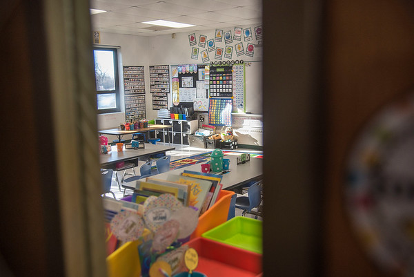 James Neiss/staff photographer <br /> Sanborn, NY - All the classrooms at West St. Elementary are empty as all schools in Niagara County are closed due to the Virus Pandemic.