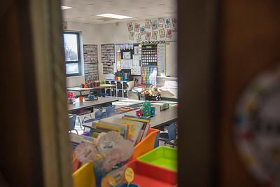 James Neiss/staff photographer  Sanborn, NY - All the classrooms at West St. Elementary are empty as all schools in Niagara County are closed due to the Virus Pandemic.