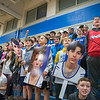 James Neiss/staff photographer <br /> Newfane, NY - Newfane Panther basketball fans make some noise during a game against Wilson.