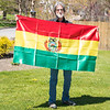 200513 Jim Shultz 2<br /> James Neiss/staff photographer <br /> Lockport, NY - One of the last souvenirs Jim Shultz bought before leaving was the Bolivian flag. <br /> <br /> Ben Joe is writing an article about Jim Shultz, US&J columnist and contributing writer, having his memoir published. (It's the story of Jim's 19 years living and working in Bolivia).