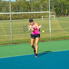 200922 Starpoint Sports 3<br /> James Neiss/staff photographer <br /> Pendleton, NY - Starpoint girls tennis player Emma Nesbit returns a volly during practice.