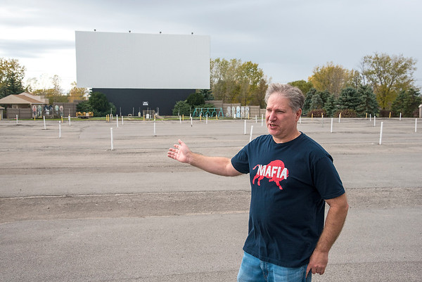 201012 Transit Drive-In 2<br /> James Neiss/staff photographer <br /> Lockport, NY - Transit Drive-In Theatre owner Rick Cohen talks about doing business in 2020.