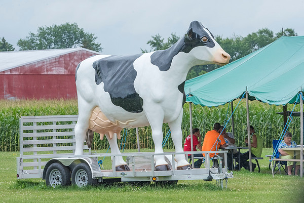200804 Enterprise 3<br /> James Neiss/staff photographer <br /> Sanborn, NY - A great place to eat lunch is right next to the giant Hover Dairy cow at Hovers Restaurant and Dairy Store on Ward Road in Sanborn.