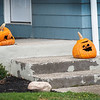 201124 Enterprise 4<br /> James Neiss/staff photographer <br /> Lockport, NY - Elderly halloween pumpkins hold out for one more holiday on their Bear Ridge Road home porch two days before Thanksgiving.